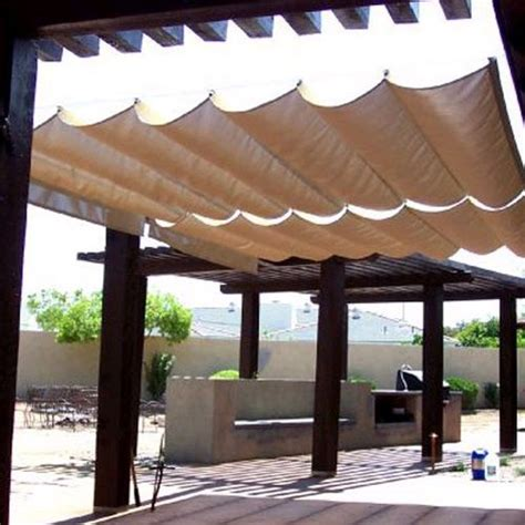 Sail Cloth Awnings by Details About Sail Shade Wave Canopy Cover Retractable Outdoor Patio Awning 9 5 X 10