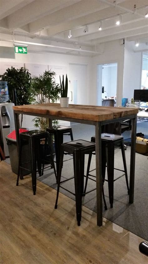 6 bar table reclaimed industrial chic 6 8 seater poseur