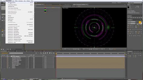 Ae Loop Pattern | after effects tutorial abstract circular hud element