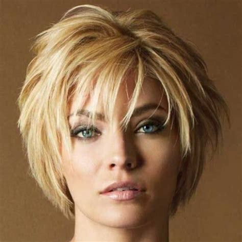 short haircut layers around face short hairstyles for women over 50 round face hair