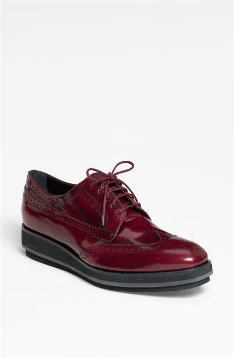oxford shoes platform prada brogue platform oxford in lyst