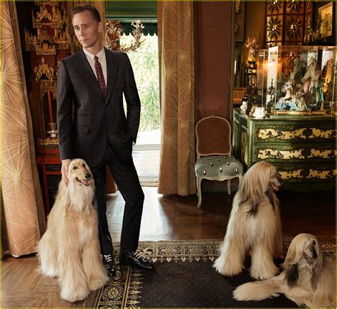 tom hiddleston puppy tom hiddleston in new gucci caign with two dogs photo 3770256 fashion