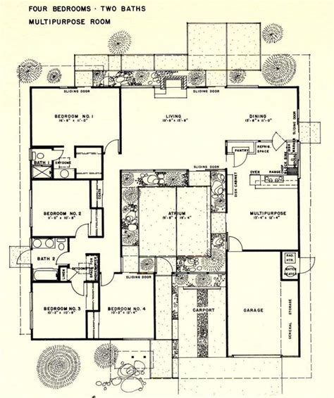 joseph eichler floor plans 25 best joseph eichler ideas on pinterest eichler house atrium house and midcentury