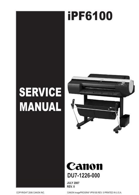 canon service canon ipf6100 service manual