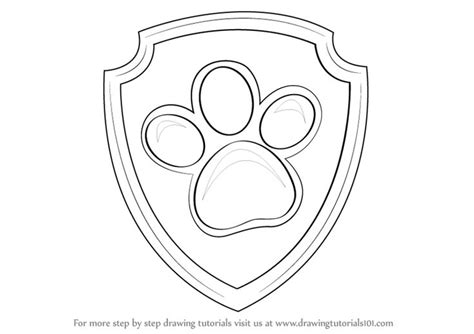 paw patrol templates learn how to draw badge from paw patrol paw patrol