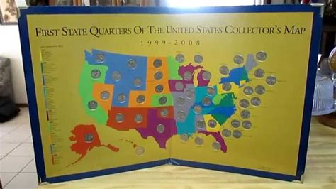 state quarters of the united states collectors map state quarters collector s map