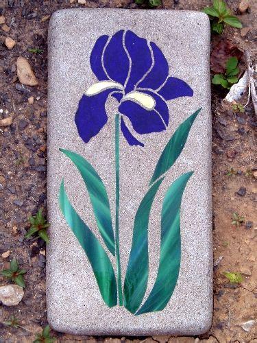 mosaic iris pin by roz eiswirth on garden art pinterest