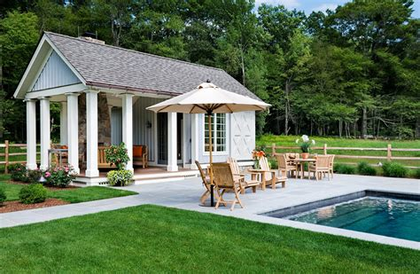 pool cabana ideas Pool Traditional with Adirondack chairs