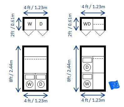 washer and dryer dimensions laundry room dimensions