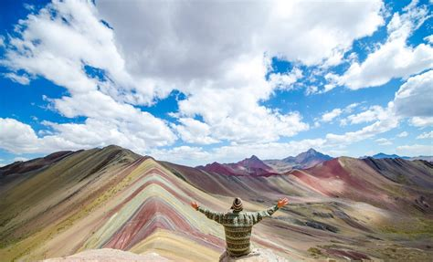 the colors of the mountain the psychedelic rainbow mountains of peru are breathtaking