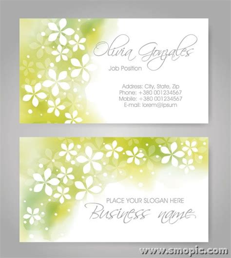 design background name card free light green abstract pattern business card cover