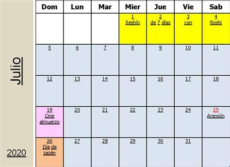calendario casa zen