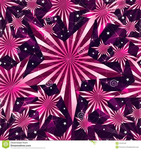 colour pattern texture shine pink sweet star seamless pattern stock vector image