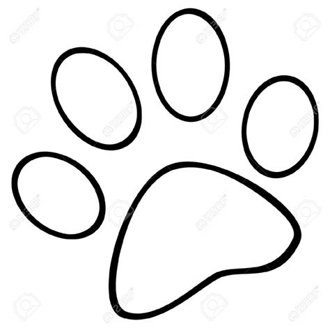 wildcat paw print outline coloring page coloring pages