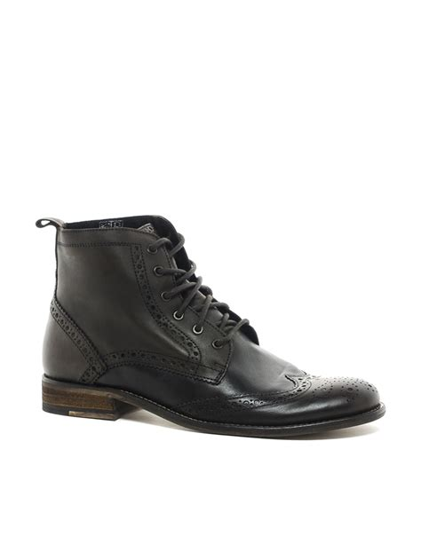 aldos boots for aldo orme brogue boots in black for brown lyst