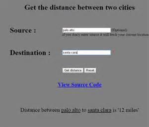 To Distance Get Distance Between Two Cities Using Php Dreamscoder