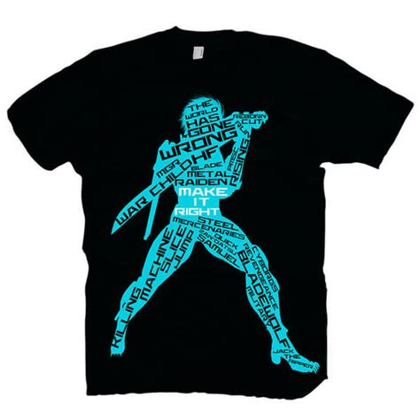 metal gear solid s t shirt rising chaos blue