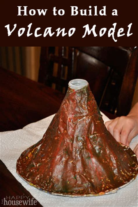 How To Make A Paper Volcano Model - science project make a volcano model html autos post