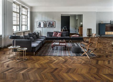 Kahrs Oak Chevron Dark Brown Engineered Wood Flooring