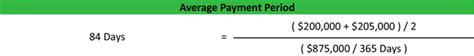 Credit Payment Period Formula Average Payment Period Formula Exle Calculation Explanation