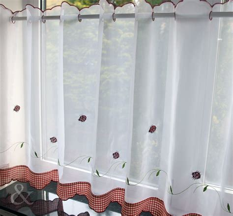 voile kitchen curtains caf 233 net curtains kitchen nets ready made voile curtain