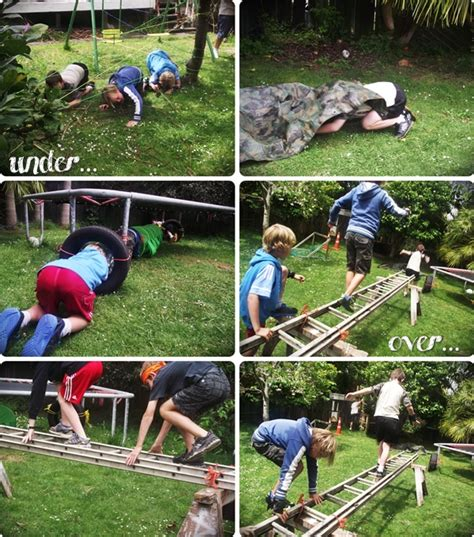 Backyard Obstacle Course Ideas Mr G Created The Obstacle Course And Did A Fab Using Rope