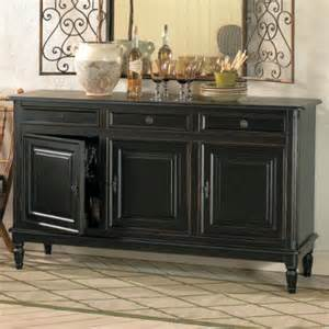 Black Dining Room Buffet Dehaviland 3 Drawer Console Traditional Buffets And