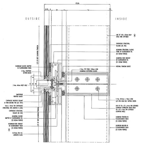 curtain wall floor detail schuco curtain wall construction detail google search