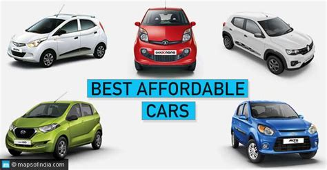 Best Affordable Cars in India   My India