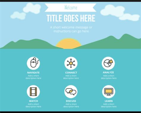 Powerpoint Fanciful Flat Menu Layout Downloads E Learning Heroes Menu Powerpoint Template