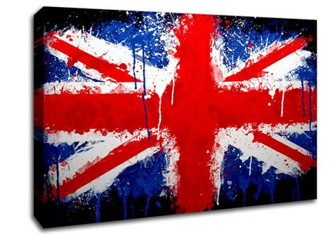 flags of the world with union jack union jack world flags canvas stretched canvas