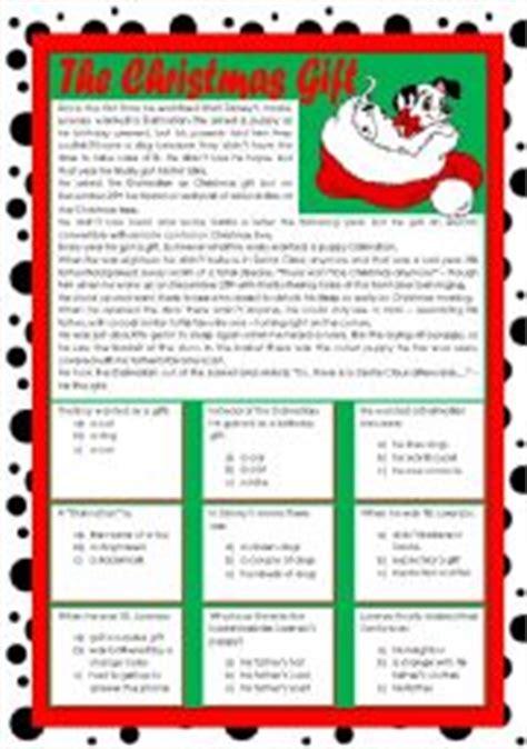 printable christmas reading comprehension free christmas reading comprehension worksheets new