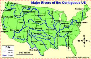 map of the rivers of the united states us rivers enchantedlearning
