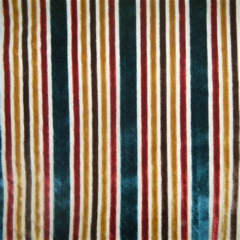 stripe upholstery fabric multi velvet stripe tabriz upholstery fabric by robert