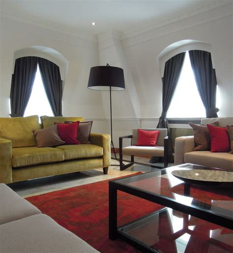 yellow sofa dark pillows dark rug grey cabinet and black wide wale corduroy sofa beautiful contemporary