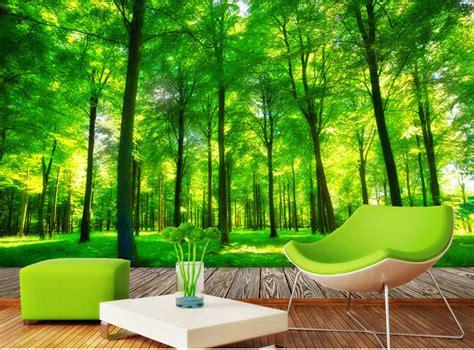 Wallpaper Sticker Motif Bambu Hijau custom 3d photo wallpaper 3d stereoscopic green forest