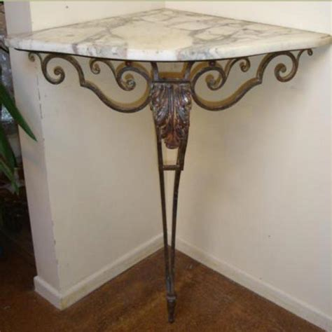Corner Console Table 19th Century Marble Topped Corner Console Table Tables