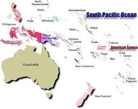 Samoa World Map by World Map Of Samoan Islands