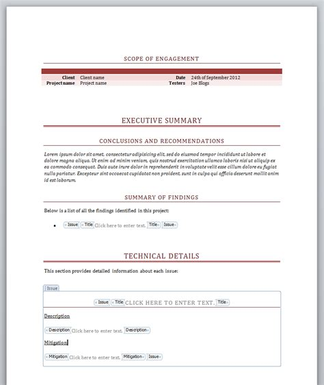 Minutes Report Template