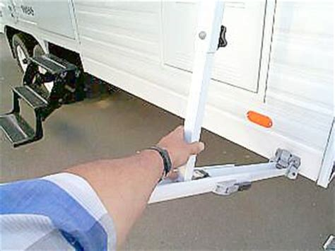 rv awning arms rv awning operation pictorial