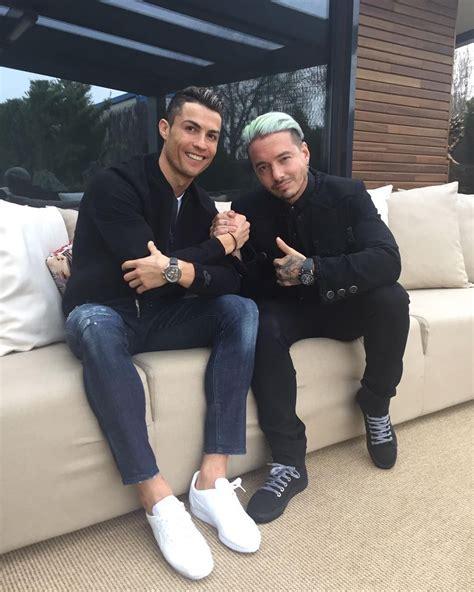 j balvin jean jacket cristiano ronaldo wears nike jacket sneakers and