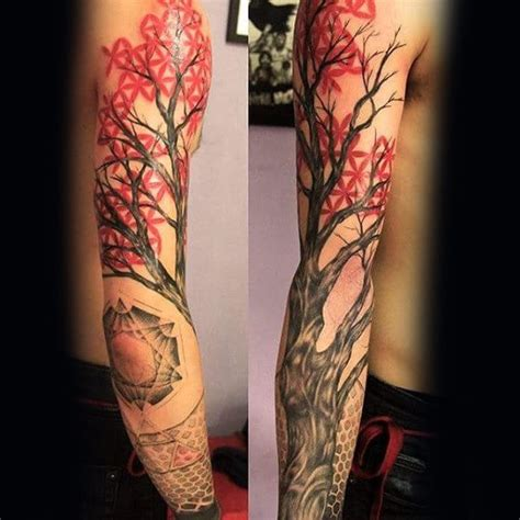 japanese tree tattoo 75 tree sleeve designs for ink ideas with