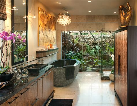 18 Tropical Bathroom Design Photos Beautyharmonylife Garden Tub Decor Ideas