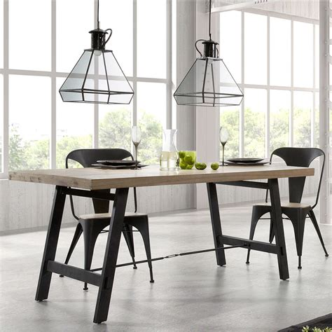 modern wood and metal dining table easy