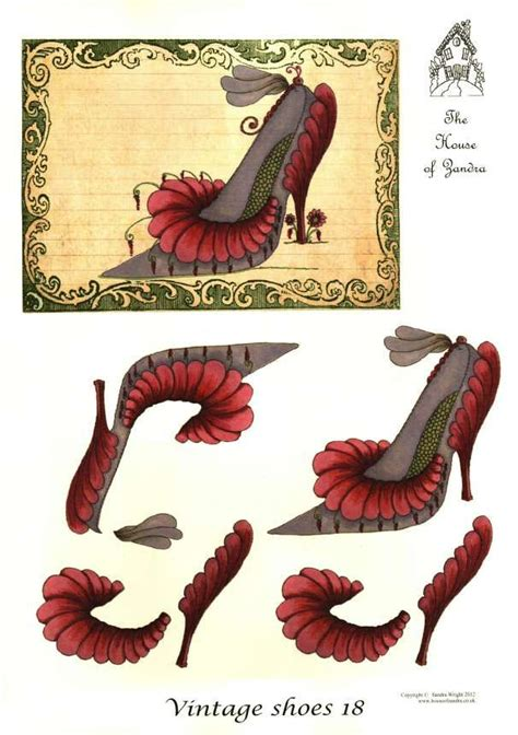 Decoupage Shoes With Paper - the house of zandra decoupage vintage shoes 18 3d