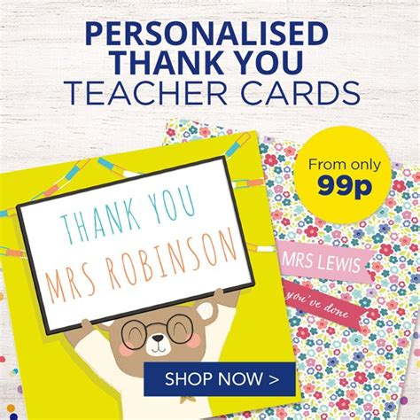 Card Factory Gifts For Teachers - thank you teacher cards gifts card factory