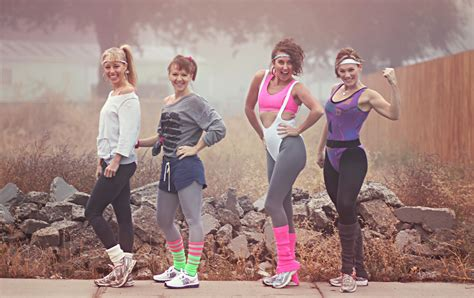 80s workout clothes for our day 5k if i had a