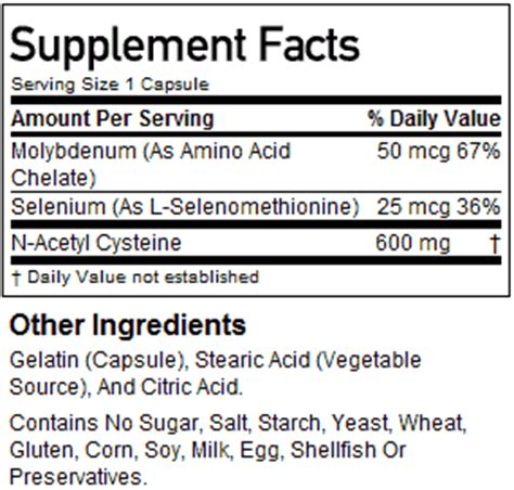 2 supplements 2 times a day now nac 600 mg n acetyl cysteine selenium molybdenum