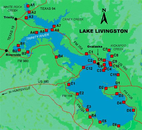 map of lake livingston texas access to lake livingston