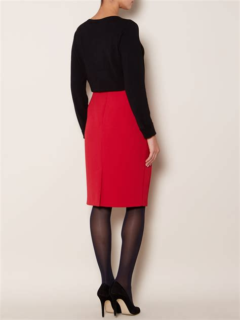 linea stretch pencil skirt in lyst